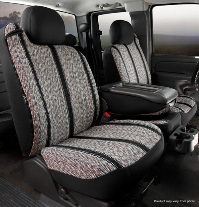 Gray Fia TR49-27 GRAY Custom Fit Front Seat Cover Split Seat 40//20//40 Saddle Blanket,